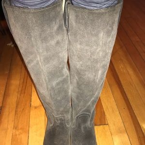 Frye Shoes - Frye Grey Suede Tall Boots size 6